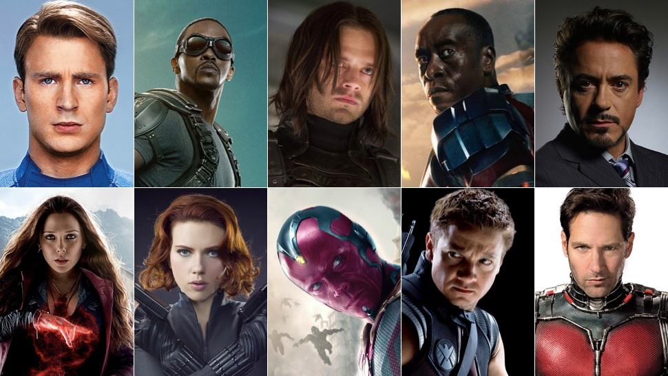 The principle hero cast of the Marvel Cinematic Universe so far.