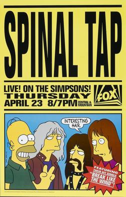 The band even appeared on The Simpsons as themselves; Harry Shearer is a regular voice actor on the animated sitcom.