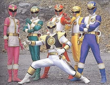 The Dairangers. Only the White/Kiba Ranger (front and center) appeared in the second season of Mighty Morphin Power Rangers.