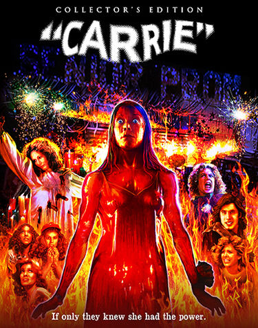 Carrie is based on Stephen King's novel, and is directed by Brian De Palma (Scarface). The film, originally released in 1976, stars Sissy Spacek (Coal Miner's Daughter), Piper Laurie (The Hustler), Nancy Allen (RoboCop), and John Travolta, in one of his earliest feature film roles. The film was scored by Pino Donaggio.