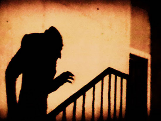 Images like this one of Count Orlok's shadow remain haunting to viewers, even nearly a century later.