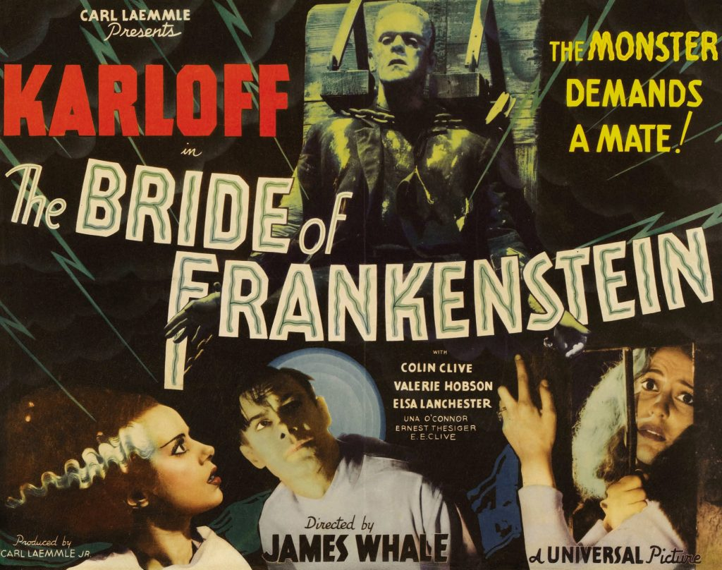 Bride of Frankenstein was released in 1935, and is the second film in Universal's classic Frankenstein series.