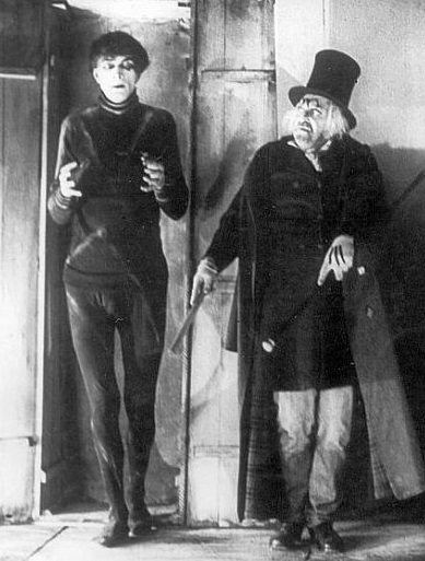 Cesare the Somnambulist, under Dr. Caligari's command.