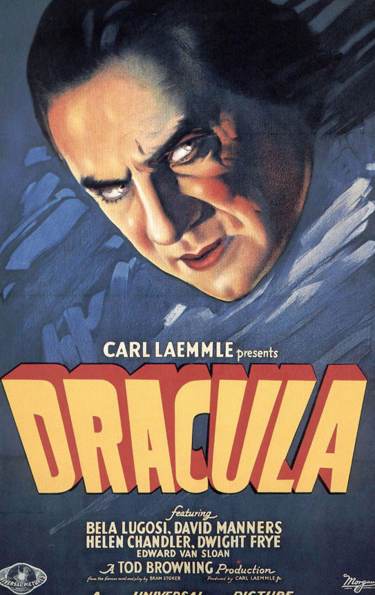 Dracula, starring Bela Lugosi, was released in 1931.