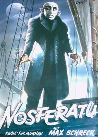 Nosferatu, directed by FW Murnau, was released in 1922.
