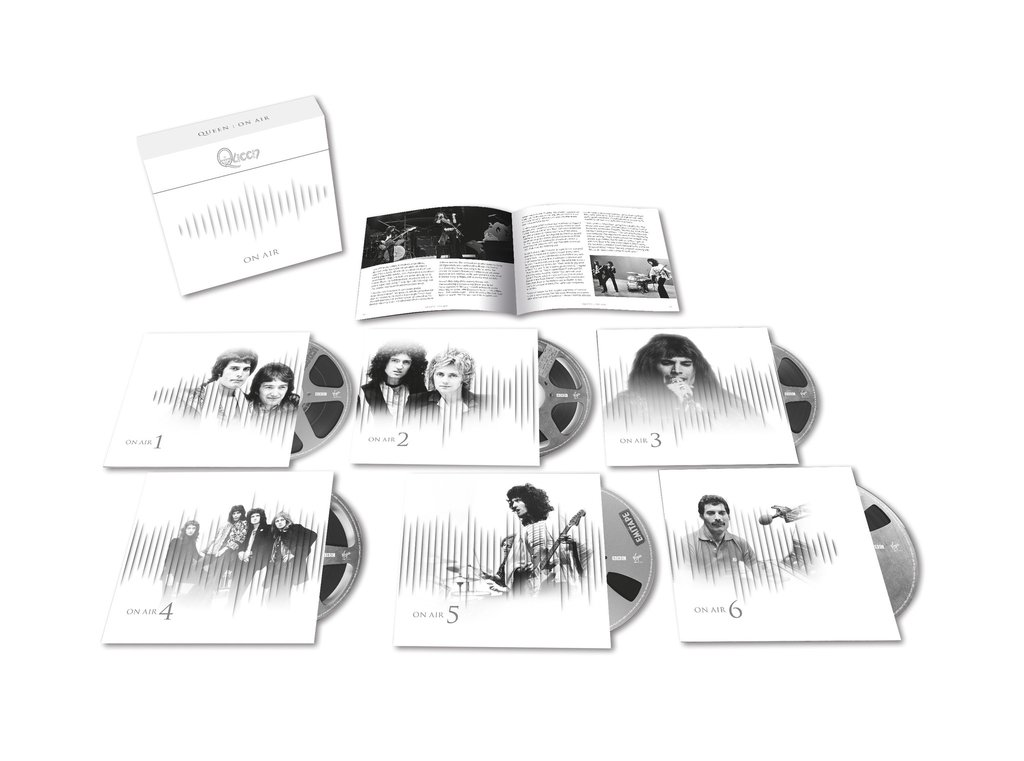 Queen On Air's six CD set's contents.