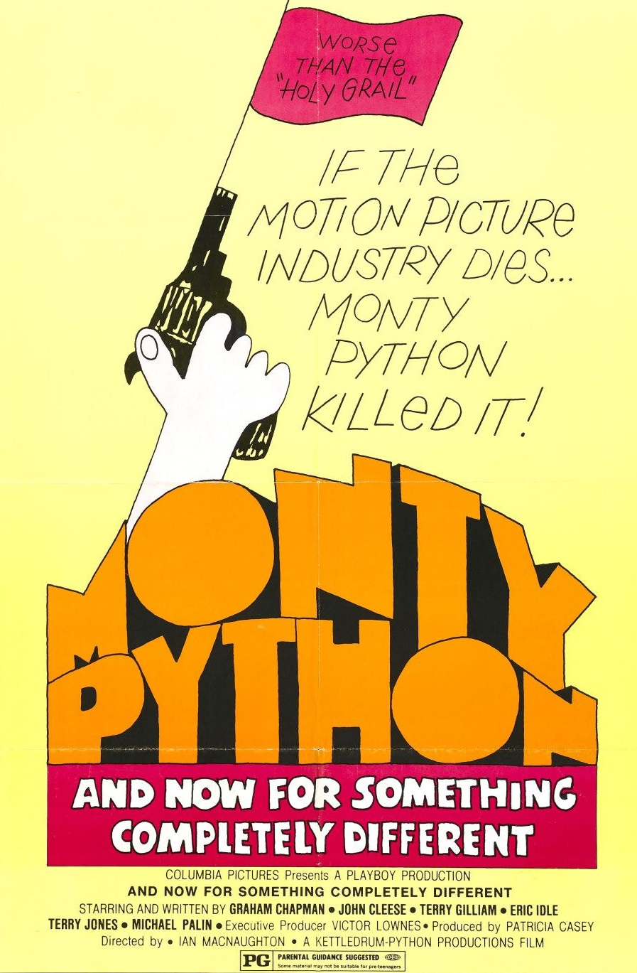 And Now for Something Completely Different was the first feature film from Monty Python. It was comprised of filmed versions of sketches previously performed on/written for their TV series, Monty Python's Flying Circus.