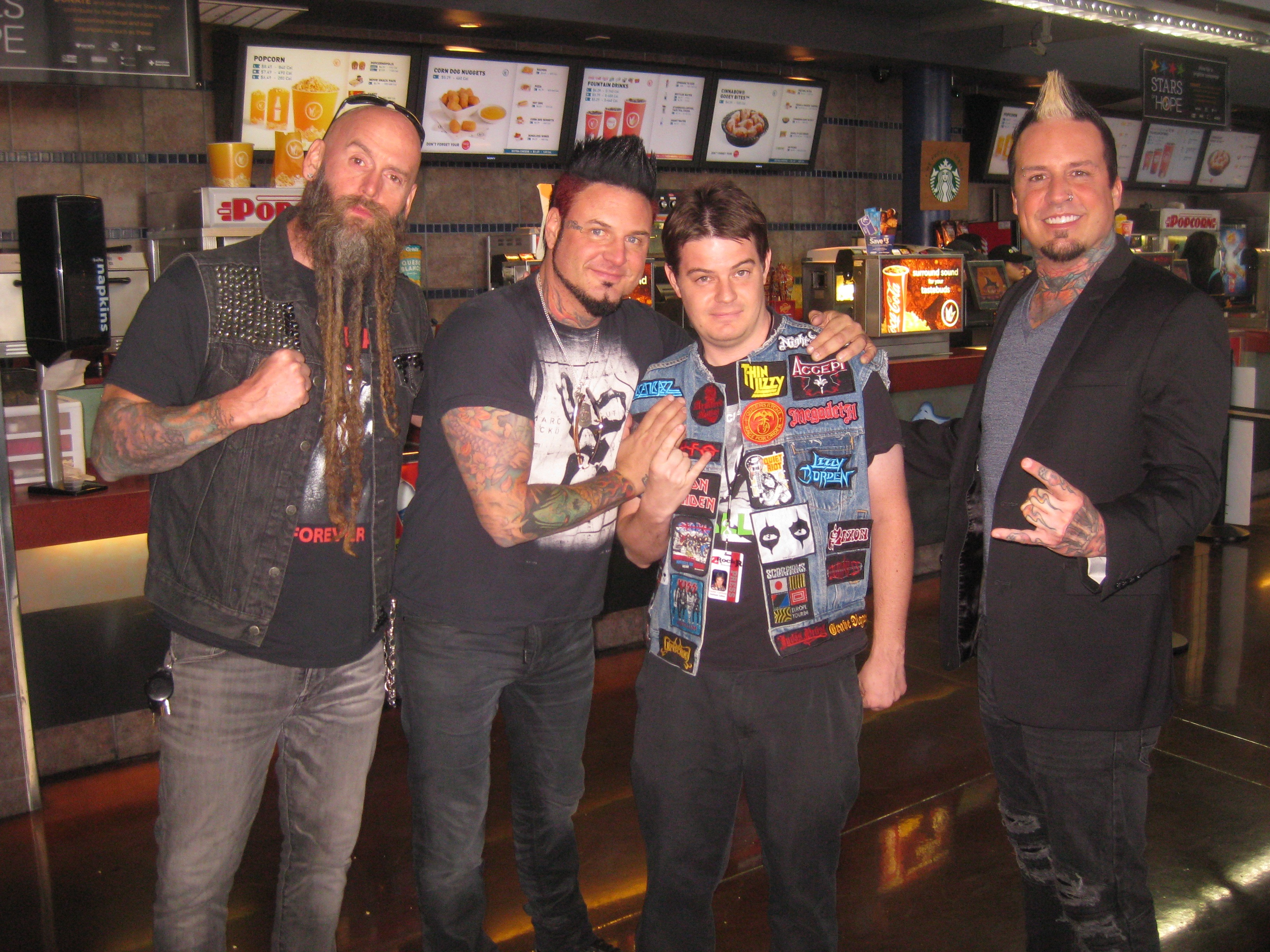Hired gun new film looks at neglected contributors in the music taylor with the members of five finger death punch from the meet and greet prior to the film kristyandbryce Choice Image